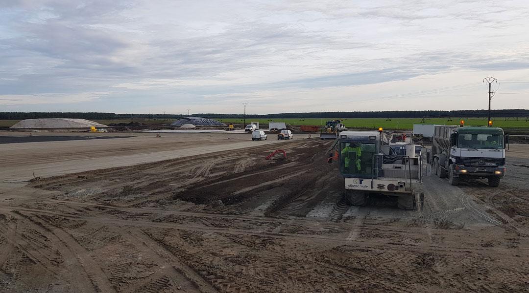 Atlantic Route réalise l'unité de méthanisation Biogaz.