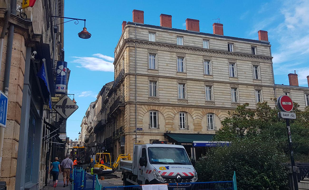 Entretien espace public rue Saint Georges à Bordeaux