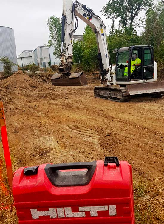 chantier hilti travaux de terrassements par Atlantic Route