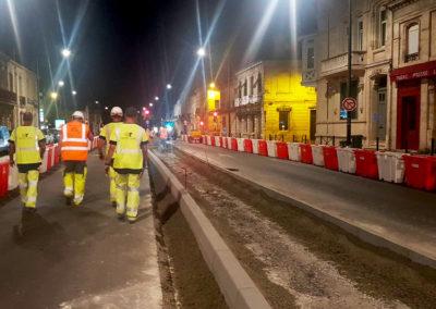 Travaux de nuit, Atlantic Route restructure les boulevards – Bordeaux (33)