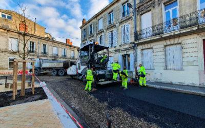 Travaux d'aménagement et de l'espace public à Bordeaux